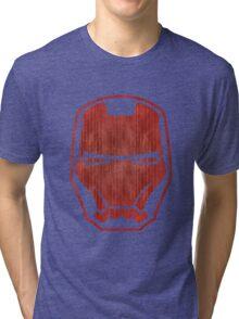 Automaton red retro Tri-blend T-Shirt