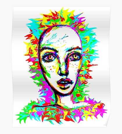 Psychedelic-Pop; Miss Peony Visio Poster