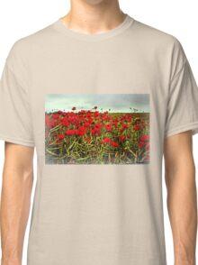Red Glow of Poppy Fields Classic T-Shirt