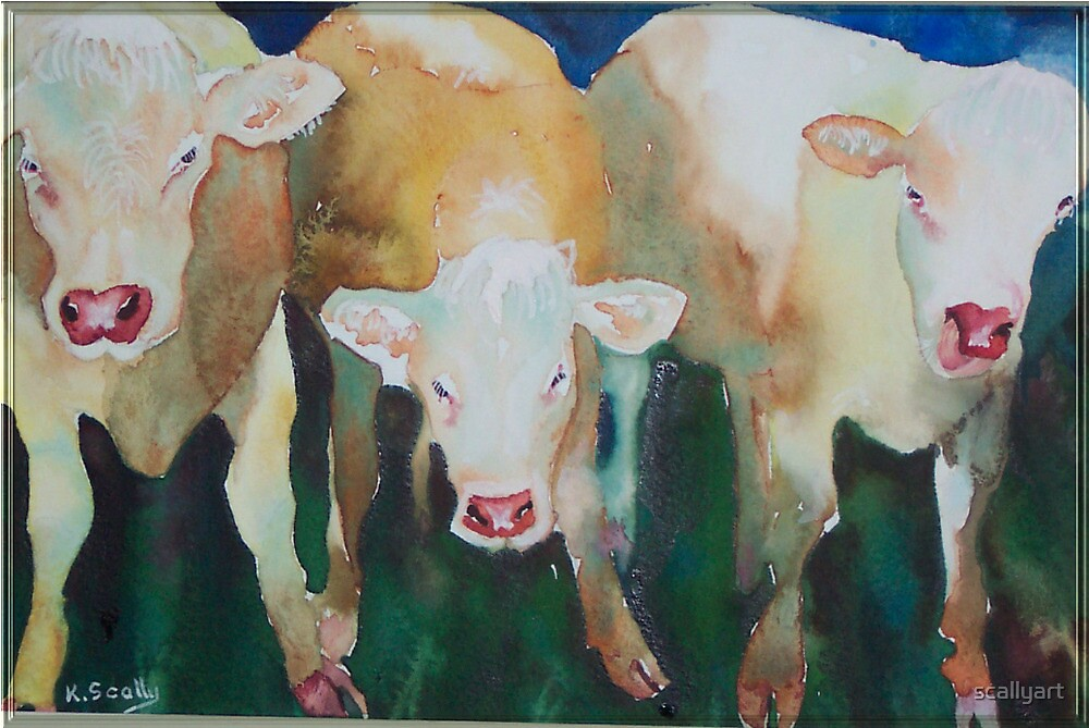 Cow licks - tongue not in cheek by scallyart