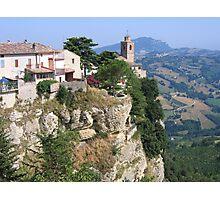 Montefalcone Appennino, Le Marche/Italy Photographic Print