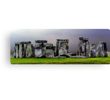 `a different view of stonehenge` Canvas Print