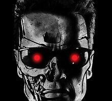 Terminator Half Face by marslegarde