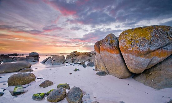 Fire in the Sky :: Bay of Fires by Mel Sinclair