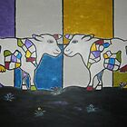 Colour Me Cows - Acrylic on canvas by Hanneke Jonkman