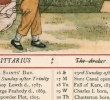 Kate Greenaway Almanack 1880 0017 November Sticker