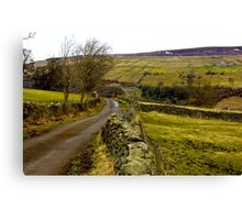 Dales Country Road. Canvas Print