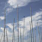 Yacht masts at Brancaster Staithe, Norfolk, UK by Richard Flint
