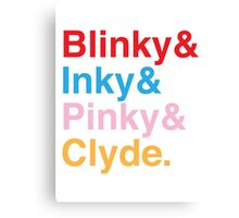 The Original Fab Four - Blinky, Inky, Pinky, Clyde Canvas Print