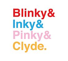 The Original Fab Four - Blinky, Inky, Pinky, Clyde Photographic Print