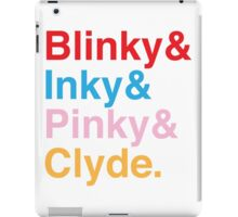 The Original Fab Four - Blinky, Inky, Pinky, Clyde iPad Case/Skin