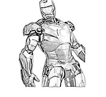 Iron Man Sketch Effect by SpiderReviewer