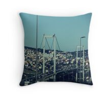 Bosphorus Bridge-Turkey Throw Pillow