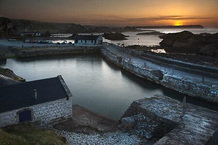 End of day at Ballintoy Harbour.