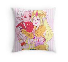 Her Little Warrior  Throw Pillow