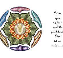 Lotus Wheel w/Msg by TheMandalaLady