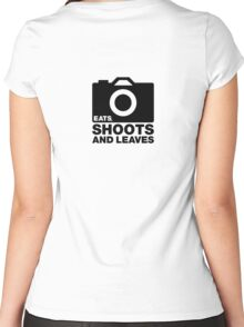 Eats, Shoots & Leaves... Women's Fitted Scoop T-Shirt