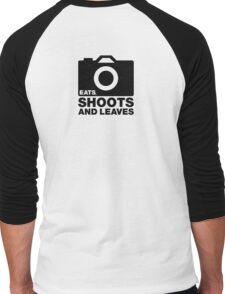 Eats, Shoots & Leaves... Men's Baseball ¾ T-Shirt