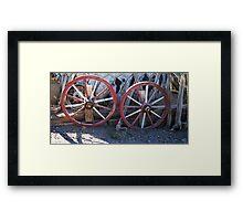 Old wagon wheels. Framed Print