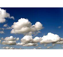 Cumulus clouds, blue sky Photographic Print