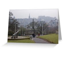 Auld Reekie From Calton Hill Greeting Card