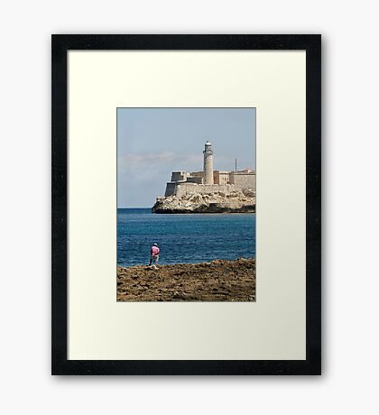El Morro lighthouse, Havana, Cuba Framed Print