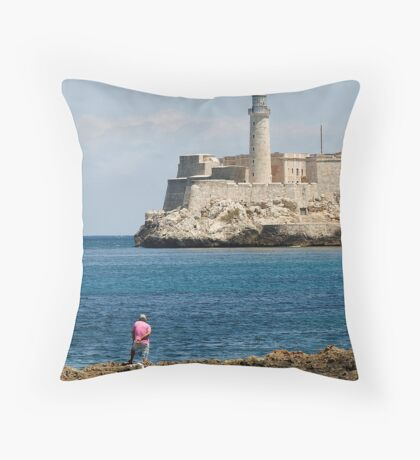 El Morro lighthouse, Havana, Cuba Throw Pillow