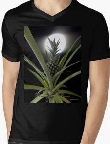 Pineapple Moon Mens V-Neck T-Shirt