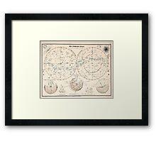 Atlas zu Alex V Humbolt's Cosmos 1851 0140 Die Sternen Welt The Starry World Framed Print
