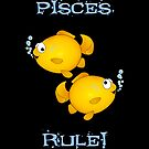 Pisces cartoon goldfish humourous  by graphicdoodles