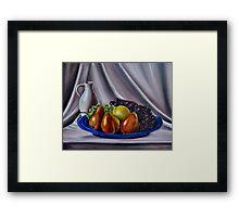 """""""Still Life - Fruit"""" - Oil painting Framed Print"""