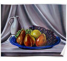 """Still Life - Fruit"" - Oil painting Poster"