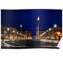 Nice, France - Place Massena Blue Hour  Poster