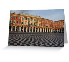 Nice, France, French Riviera - the Cheerful Colors of Place Massena  Greeting Card