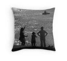 'Gone Fishing 2' : River Crouch, Hullbridge Throw Pillow