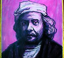 Original Rembrandt Acrylic Painting Circa 1987 by JETIII