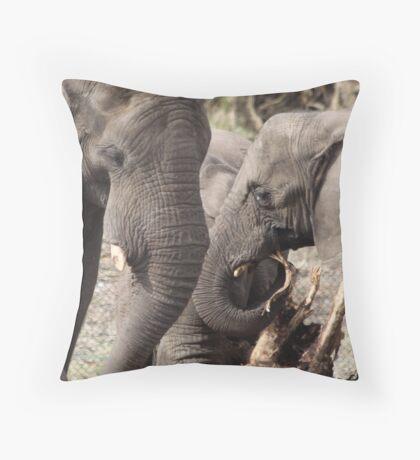 elephants 2 Throw Pillow