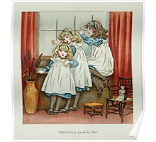 The April Baby's Book of Tunes by Elizabeth art Kate Greenaway 1900 0022 Don't Push So You Awful June Poster