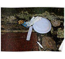 Life's debris, The Sassi, Matera, Basilicata, Italy Poster