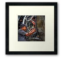 Aircraft Mechanic -- HDR Portrait Framed Print