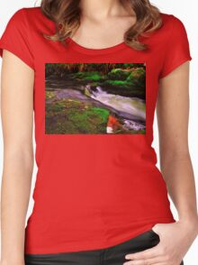Devil`s Jump Valley  Women's Fitted Scoop T-Shirt