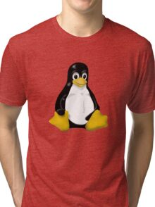 LINUX TUX THE PENGUIN KONTRA SIT Tri-blend T-Shirt