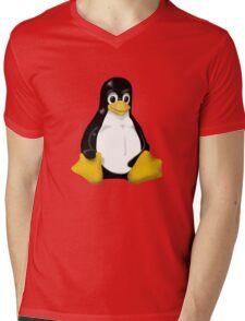 LINUX TUX THE PENGUIN KONTRA SIT Mens V-Neck T-Shirt
