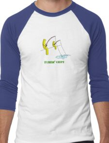 Fishin' Chips Men's Baseball ¾ T-Shirt