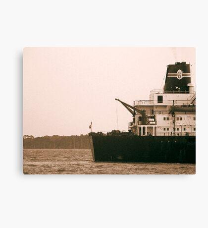 Ship near St. Simon's Island Canvas Print