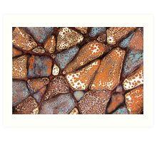 Mosaic Glaze 1 Carcoar Art Print