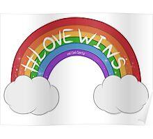 Love Wins Rainbow Poster