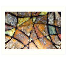 Mosaic Glaze 2 Carcoar Art Print