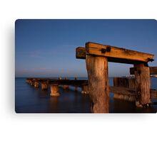 Dawn at Mentone Pier #1 Canvas Print