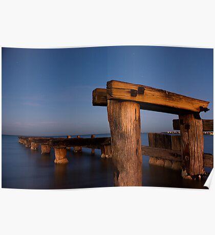 Dawn at Mentone Pier #1 Poster